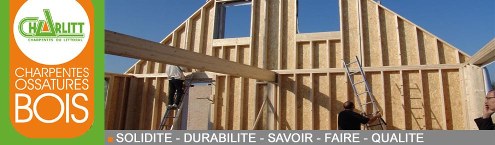 Ossature bois for Maison ossature bois en l